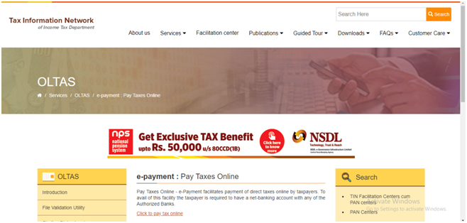 How to pay TDS Online   E-Tax Advisor