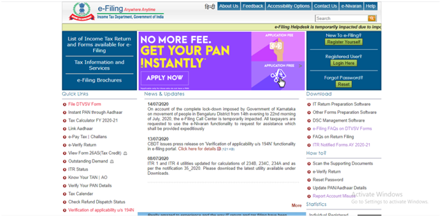 income-tax-e-filing-login